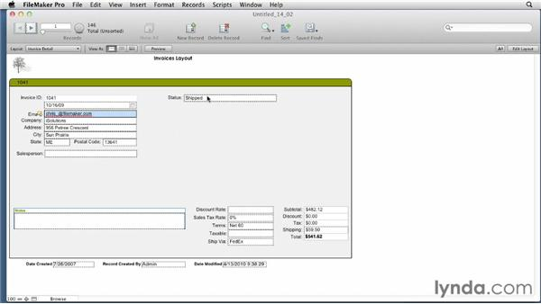 Creating and applying static value lists: FileMaker Pro 12 Essential Training