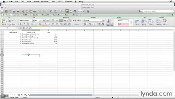 Saving as a PDF or Excel file: FileMaker Pro 12 Essential Training
