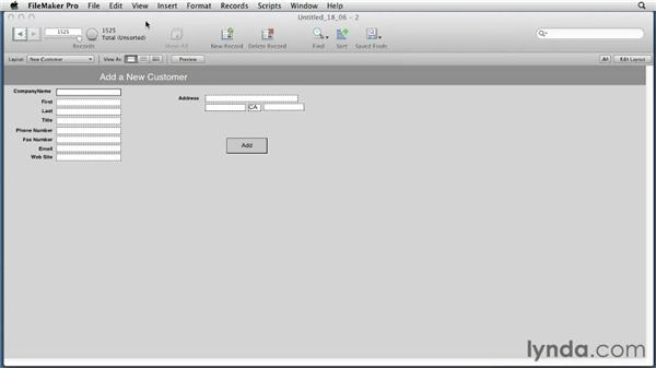 Using the New Window script step: FileMaker Pro 12 Essential Training