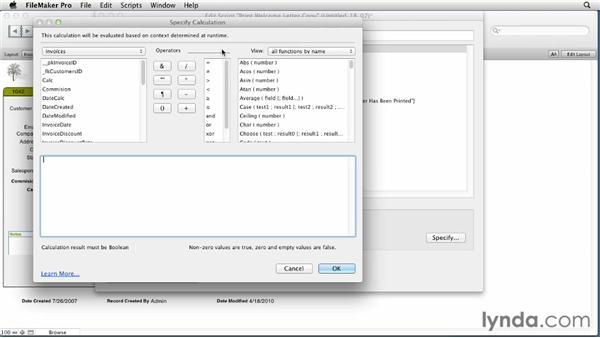 Understanding the If script step: FileMaker Pro 12 Essential Training