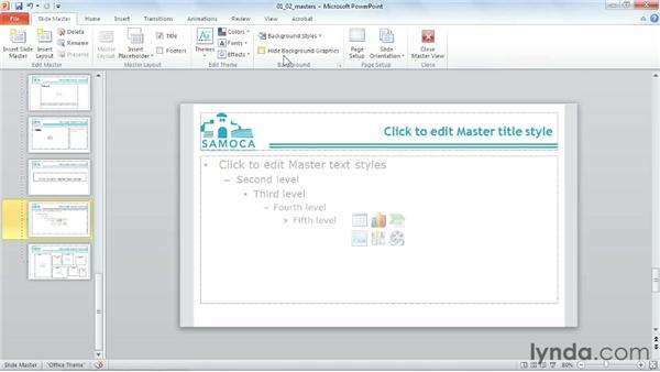 Working with slide and handout masters: PowerPoint 2010 Power Shortcuts