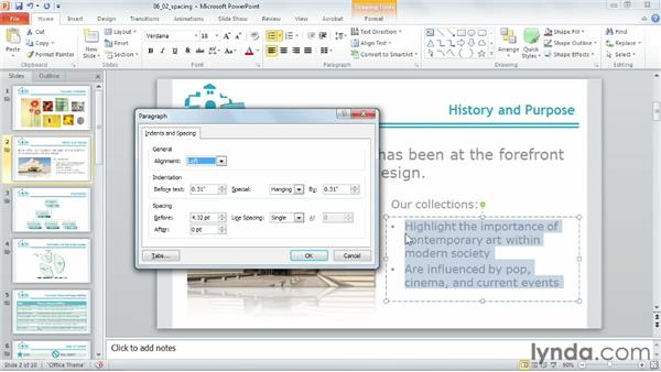 Adjusting paragraph spacing: PowerPoint 2010 Power Shortcuts