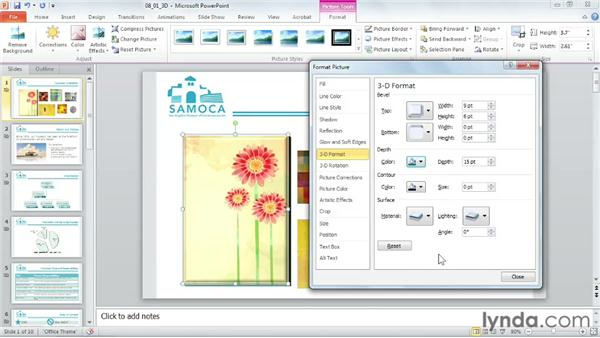 Creating 3D shapes: PowerPoint 2010 Power Shortcuts