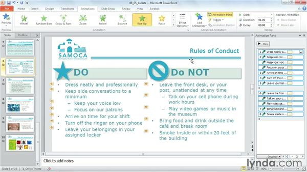 Animating bulleted lists: PowerPoint 2010 Power Shortcuts