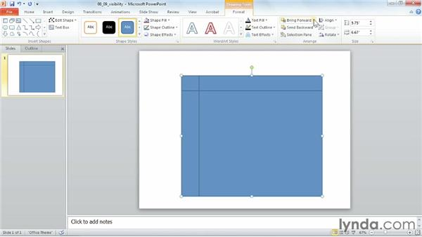 Modifying object visibility: PowerPoint 2010 Power Shortcuts