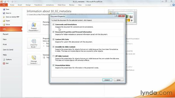 Stripping out proprietary metadata: PowerPoint 2010 Power Shortcuts