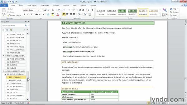 Mastering the Navigation pane: Word 2010 Power Shortcuts