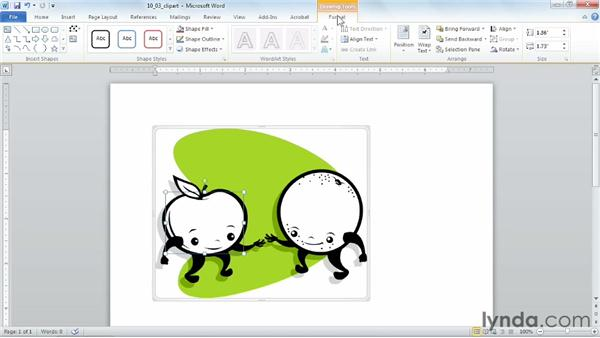 Editing clip art: Word 2010 Power Shortcuts