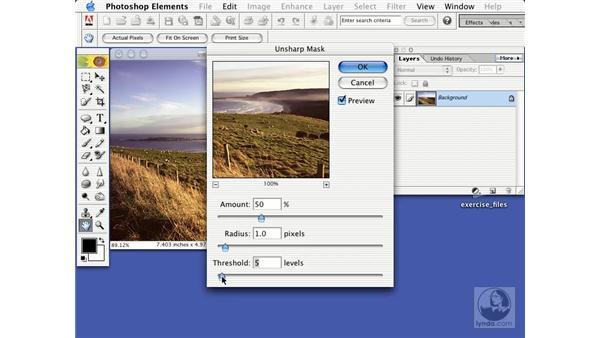 sharpening: Learning Photoshop Elements 2