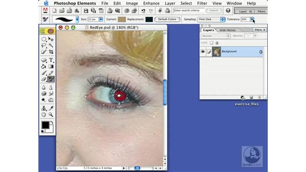 removing red eye: Learning Photoshop Elements 2