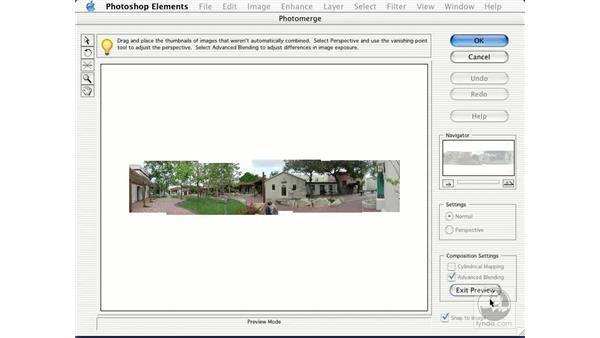 photomerge composition: Learning Photoshop Elements 2