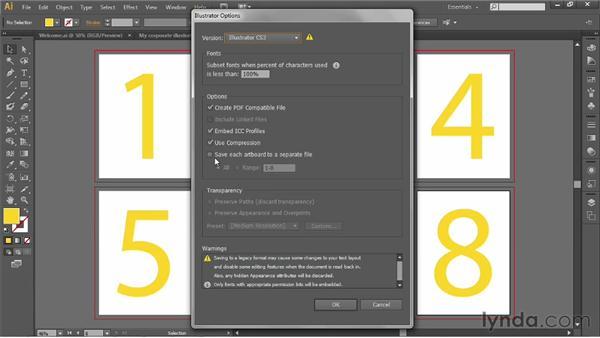Saving changes: Illustrator CS6 One-on-One: Fundamentals