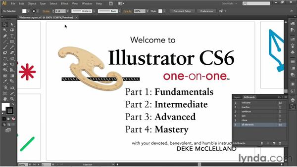 Zooming a document and its artboards: Illustrator CS6 One-on-One: Fundamentals