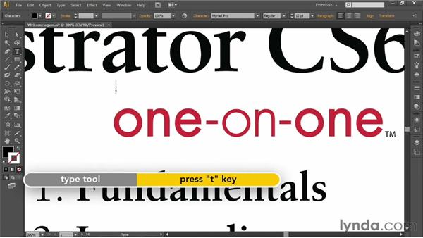 Scrolling (or panning) a document: Illustrator CS6 One-on-One: Fundamentals