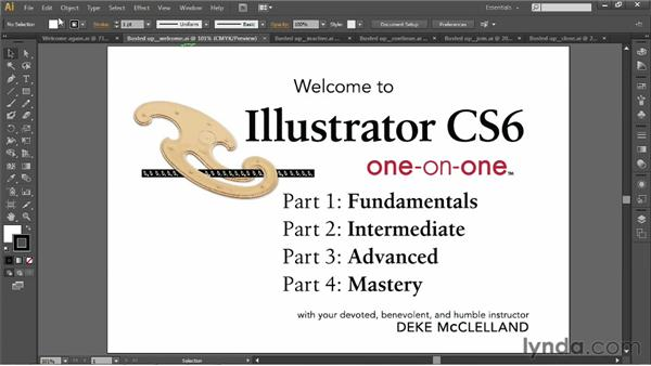 Working with multiple open documents: Illustrator CS6 One-on-One: Fundamentals