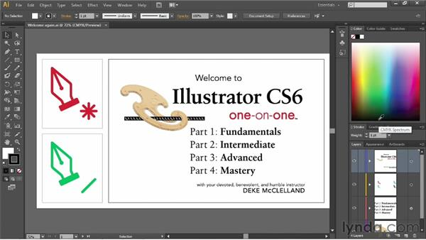 Panels and workspaces: Illustrator CS6 One-on-One: Fundamentals