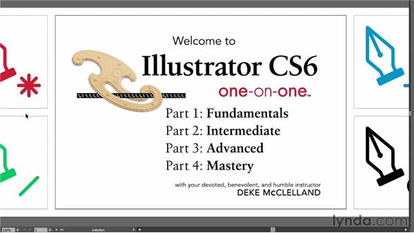 Cycling through screen modes: Illustrator CS6 One-on-One: Fundamentals