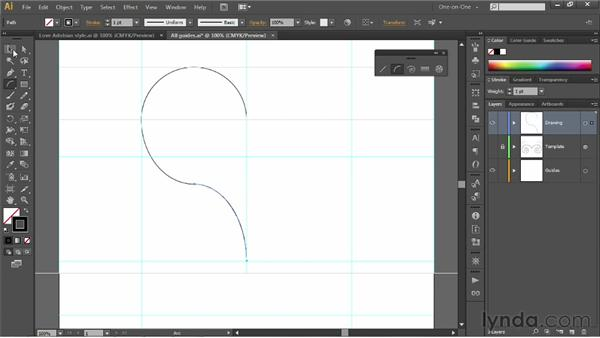 Drawing a heart with the Arc tool: Illustrator CS6 One-on-One: Fundamentals