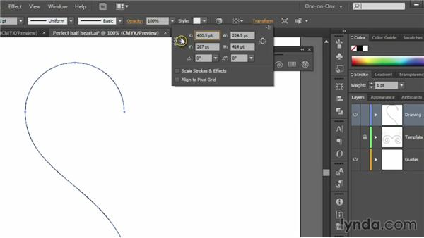 Reflecting and completing a shape: Illustrator CS6 One-on-One: Fundamentals