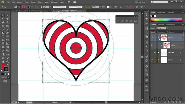 Pasting one shape inside another: Illustrator CS6 One-on-One: Fundamentals