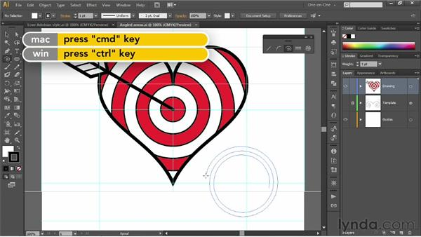 Using the Spiral tool: Illustrator CS6 One-on-One: Fundamentals