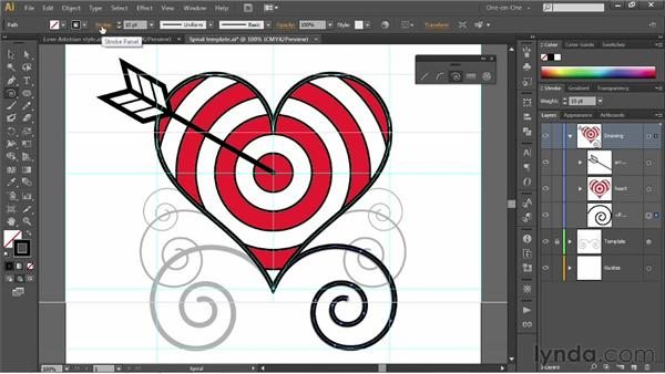 Tracing existing spirals: Illustrator CS6 One-on-One: Fundamentals