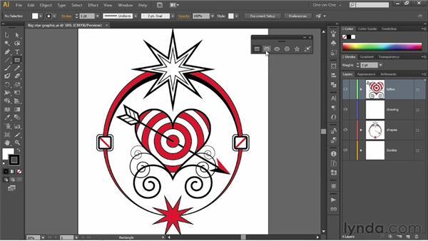 Meet the shape tools: Illustrator CS6 One-on-One: Fundamentals