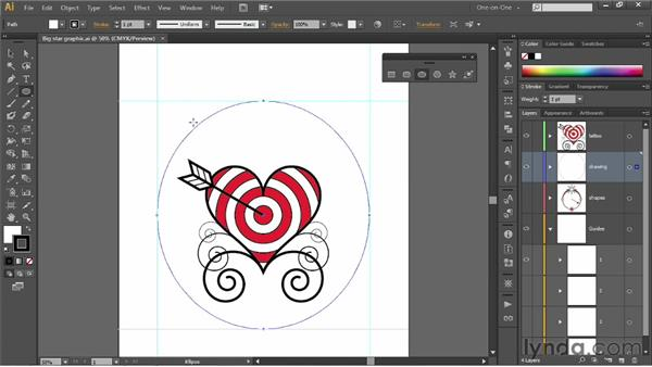 Using the Ellipse tool: Illustrator CS6 One-on-One: Fundamentals