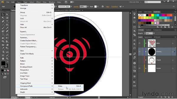Creating compound paths: Illustrator CS6 One-on-One: Fundamentals
