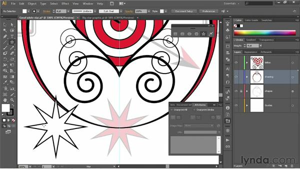Adding and aligning a center point: Illustrator CS6 One-on-One: Fundamentals