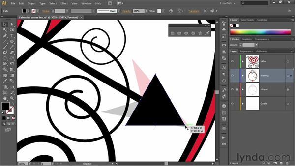 Turning a triangle into an arrowhead: Illustrator CS6 One-on-One: Fundamentals