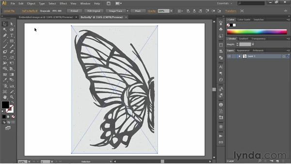 Placing an image to create a dynamic link: Illustrator CS6 One-on-One: Fundamentals