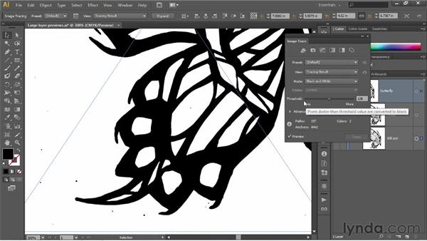 Cleaning up with the Threshold option: Illustrator CS6 One-on-One: Fundamentals