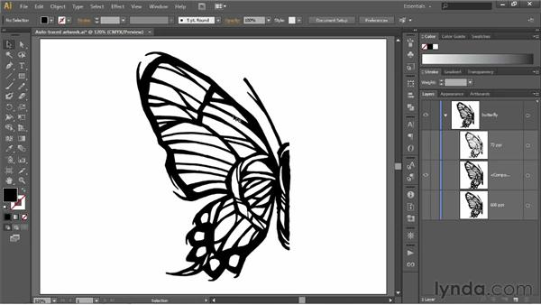 Expanding and simplifying traced paths: Illustrator CS6 One-on-One: Fundamentals
