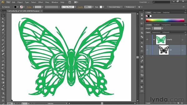 Scaling resolution-independent vectors: Illustrator CS6 One-on-One: Fundamentals