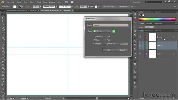 Creating a tracing template: Illustrator CS6 One-on-One: Fundamentals