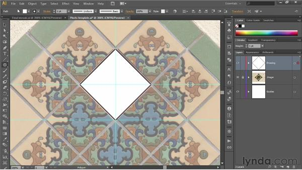 Drawing a diamond with the Polygon tool: Illustrator CS6 One-on-One: Fundamentals