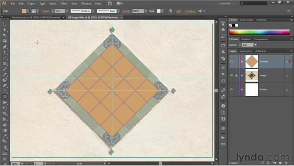 Using the Scale tool: Illustrator CS6 One-on-One: Fundamentals