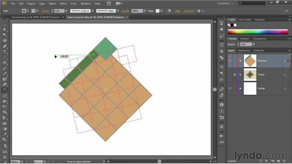 Using the Rotate tool: Illustrator CS6 One-on-One: Fundamentals