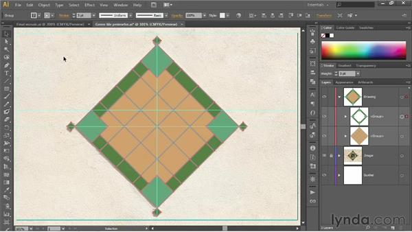 Group, stack, and organize: Illustrator CS6 One-on-One: Fundamentals