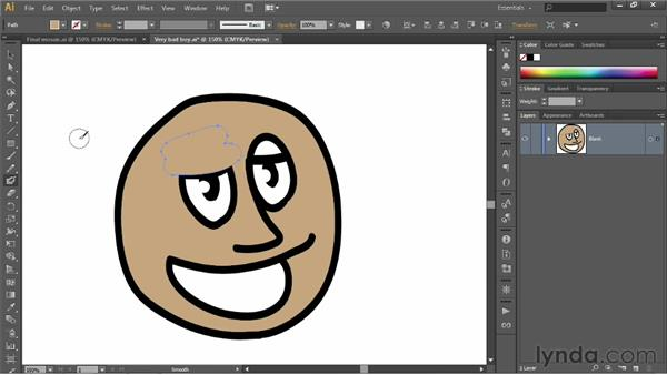 Erasing and painting selected paths: Illustrator CS6 One-on-One: Fundamentals