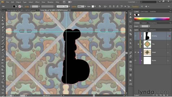Painting in the Outline mode: Illustrator CS6 One-on-One: Fundamentals