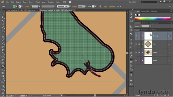 Assigning colors with the Shape Builder: Illustrator CS6 One-on-One: Fundamentals