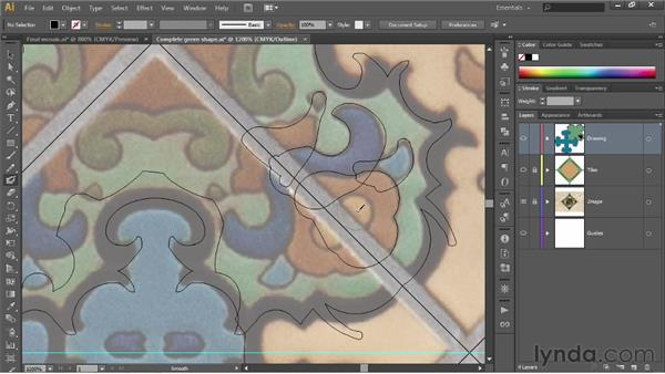 Reflecting across an angled axis: Illustrator CS6 One-on-One: Fundamentals