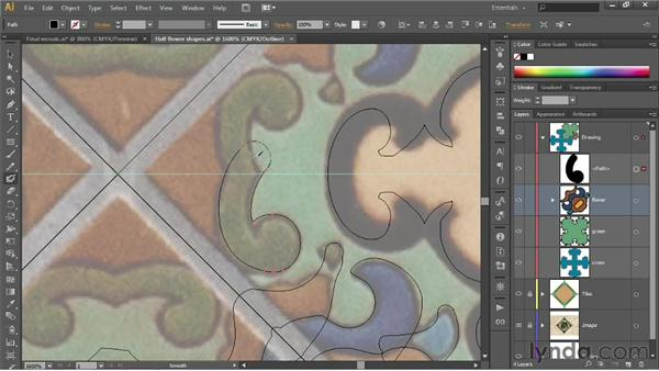Cleaning up Shape Builder leftovers: Illustrator CS6 One-on-One: Fundamentals
