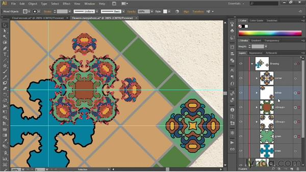 Establishing hierarchy with groups: Illustrator CS6 One-on-One: Fundamentals
