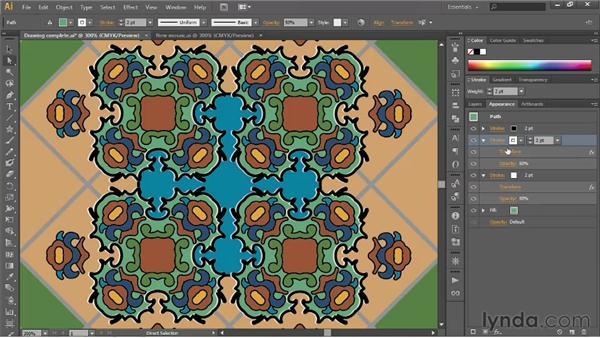 Simulating beveled edges: Illustrator CS6 One-on-One: Fundamentals