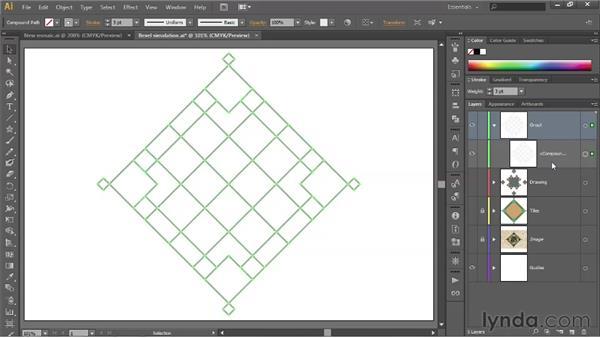 Creating a network of interlocking paths: Illustrator CS6 One-on-One: Fundamentals