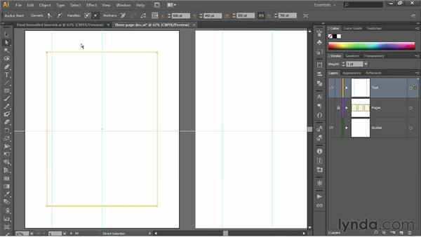 Creating page margins: Illustrator CS6 One-on-One: Fundamentals