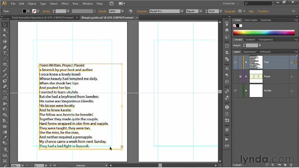 Placing and flowing text: Illustrator CS6 One-on-One: Fundamentals